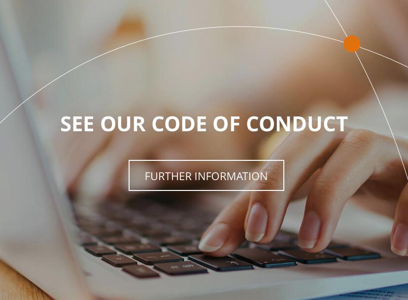 Veja o código de conduta