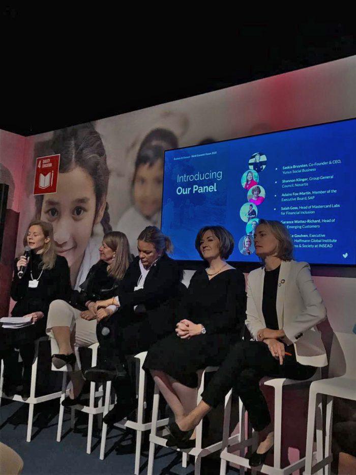 único painel de debate formado por mulheres durante agenda em Davos, de olho nas discussões internacionais sobre clima