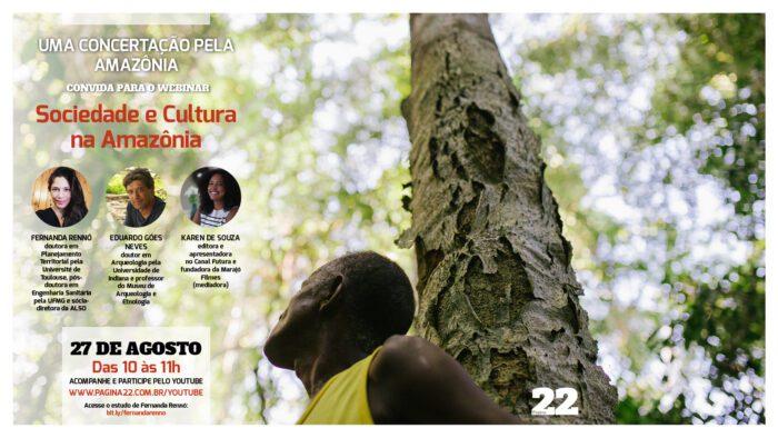Webinar Concertação da Amazônia sobre sociedade e cultura