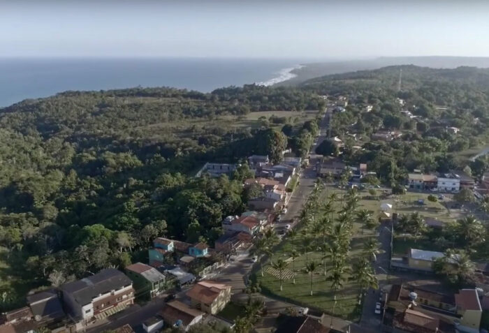 vista aérea de Serra Grande, na Bahia